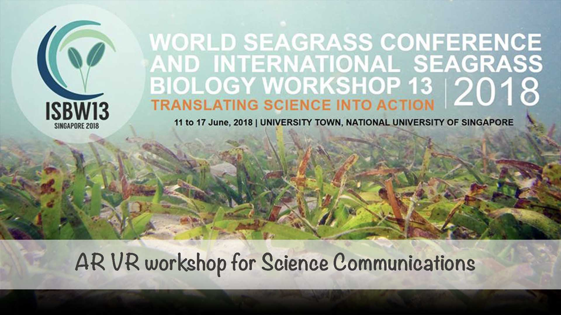 AR VR Workshops for for World Seagrass Conference
